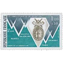 1974 30e ANNIVERSAIRE DE LA LIBÉRATION ORDRE DE LA LIBÉRATION ILE DE SEIN NANTES VASSIEUX-EN-VERCORS PARIS GRENOBLE