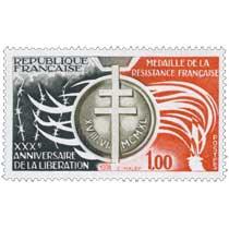 1974 XXXE ANNIVERSAIRE DE LA LIBÉRATION MÉDAILLE DE LA RESISTANCE FRANÇAISE