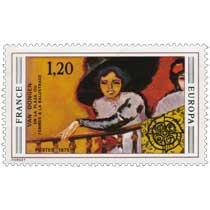 1975 EUROPA CEPT VAN DONGEN EN LA PLAZA OU FEMMES À LA BALUSTRADE