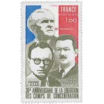 1975 30e ANNIVERSAIRE DE LA LIBÉRATION DES CAMPS DE CONCENTRATION PIERRE KAAN F.H. MANHES JEAN VERNEAU
