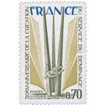 1975 30e ANNIVERSAIRE DE LA CRÉATION DU SERVICE DE DÉMINAGE SCULPT JOSEPH RIVIERE ARCHIT E. DESCHLER