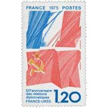 1975 50e anniversaire des relations diplomatiques FRANCE-URSS