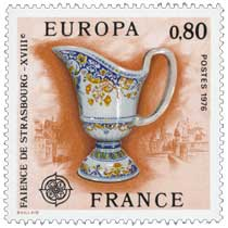 1976 EUROPA CEPT FAÏENCE DE STRASBOURG - XVIIIe