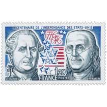 BICENTENAIRE DE L'INDÉPENDANCE DES ÉTATS-UNIS VERGENNES FRANKLIN 1776-1976