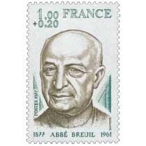 1977 L'ABBÉ BREUIL 1877-1961