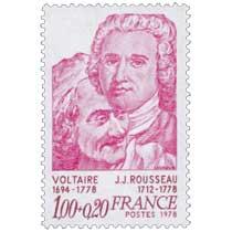 1978 VOLTAIRE 1694-1778 J.J. ROUSSEAU 1712-1778