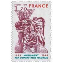 1978 MONUMENT AUX COMBATTANTS POLONAIS 1939-1945