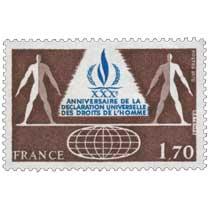 1978 XXXe ANNIVERSAIRE DE LA DÉCLARATION UNIVERSELLE DES DROITS DE L'HOMME