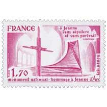 monument national - hommage à Jeanne d'Arc ô Jeanne sans sépulcre et sans portrait…A. Malraux Rouen 1979