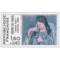 1982 JOURNÉE DU TIMBRE Femme lisant D'AP PICASSO