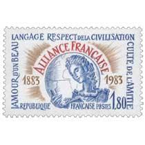 AMOUR D'UN BEAU LANGAGE RESPECT DE LA CIVILISATION CULTE DE L'AMITIÉ ALLIANCE FRANÇAISE 1883-1983