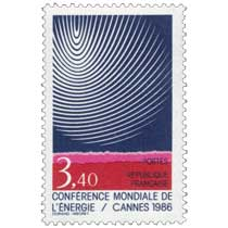 CONFÉRENCE MONDIALE DE L'ÉNERGIE / CANNES 1986