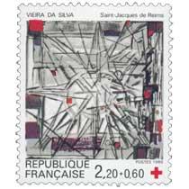 1986 VIEIRA DA SILVA Saint-Jacques de Reims