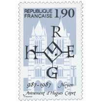 Avènement d'Hugues Capet Noyon 987-1987