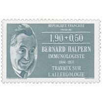 1987 BERNARD HALPERN 1804-1978 TRAVAUX SUR L'ALLERGOLOGIE