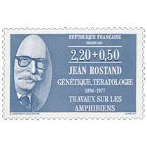1987 JEAN ROSTAND GÉNÉTIQUE, TÉRATOLOGIE 1894-1977 TRAVAUX SUR LES AMPHIBIENS