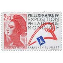 PHILEXFRANCE 89 EXPOSITION PHILATÉLIQUE MONDIALE PARIS - 7 - 17 JUILLET