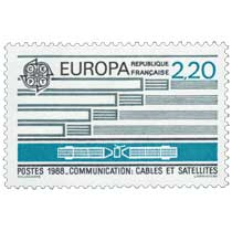 1988 EUROPA CEPT COMMUNICATION : CÂBLES ET SATELLITES