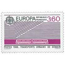 1988 EUROPA CEPT TRANSPORTS URBAINS DE DEMAIN