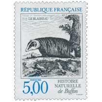 1988 HISTOIRE NATURELLE de Buffon LE BLAIREAU