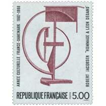 ANNÉE CULTURELLE FRANCE-DANEMARK 1987-1988 ROBERT JACOBSEN HOMMAGE A LÉON DEGAND