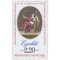 1989 BICENTENAIRE DE LA RÉVOLUTION FRANÇAISE ET DE LA DÉCLARATION DES DROITS DE L'HOMME ET DU CITOYEN Égalité