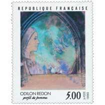 1990 ODILON REDON profil de femme