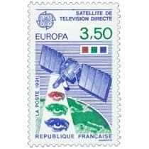 1991 EUROPA CEPT SATELLITE DE TÉLÉVISION DIRECTE