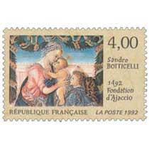 1992 Sandro BOTTICELLI 1492 fondation d'Ajaccio