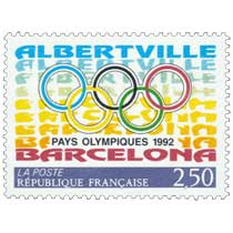 ALBERTVILLE PAYS OLYMPIQUES 1992 BARCELONA