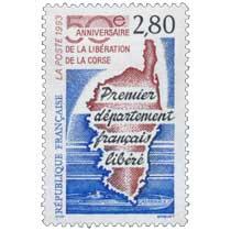 1993 50e ANNIVERSAIRE DE LA LIBÉRATION DE LA CORSE Premier département français libéré CASABIANCA