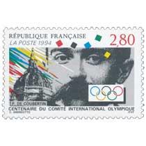 1994 CENTENAIRE DU COMITÉ INTERNATIONAL OLYMPIQUE P.DE COUBERTIN