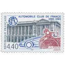 AUTOMOBILE CLUB DE FRANCE 1895-1995 ACF