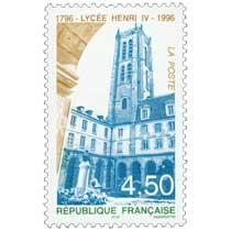 LYCÉE HENRI IV 1796-1996
