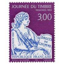 1997 JOURNÉE DU TIMBRE MOUCHON 1902 DROITS DE L'HOMME