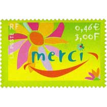 TIMBRES DE MESSAGES. MERCI