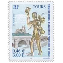 2001 TOURS FÉDÉRATION FRANÇAISE DES ASSOCIATION PHILATÉLIQUES - 74e CONGRÈS