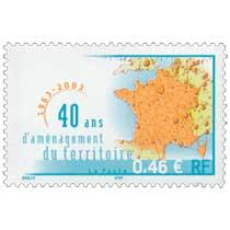 40 ans d'aménagement du territoire 1963-2003