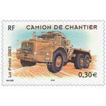 2003 CAMION DE CHANTIER