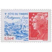 Fête du Timbre Protégeons l'eau - type Marianne de Beaujard
