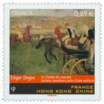 2012 Edgar Degas le champ de courses jockeys amateurs près d'une voiture France Hong Kong Chine