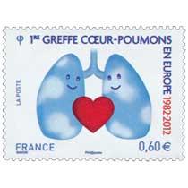 1re greffe cœur-poumons en Europe 1982 - 2012