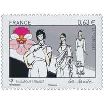 2013 Emission commune Singapour-France - La mode