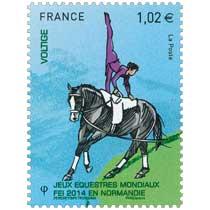 2014 Jeux Équestres Mondiaux FEI en Normandie VOLTIGE