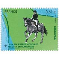 2014 Jeux Équestres Mondiaux FEI en Normandie DRESSAGE