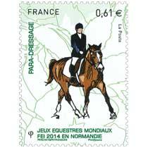 2014 Jeux Équestres Mondiaux FEI en Normandie PARA-DRESSAGE