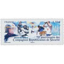 2014 70e anniversaire des Compagnies Républicaines de Sécurité POLICE NATIONALE