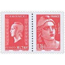 2015 Sans légende particulière - Paire  Marianne de Gandon et Marianne de Dulac