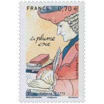 2016 La plume d'oie - Voltaire v.1775