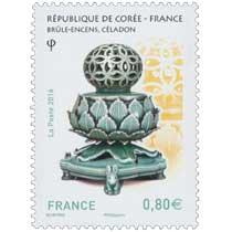 2016 République de Corée - France - Brûle-encens, céladon